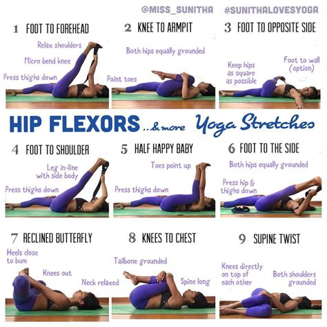 stretches to relieve hip flexor pain with yoga apparel