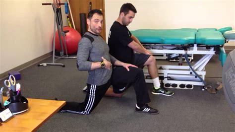 stretching hip flexor vs capsule stain