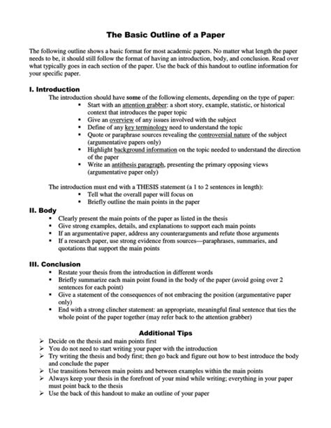 Student Resume Sample Format Philippines Outline Research Paper Sample By Wendy Demelo Issuu
