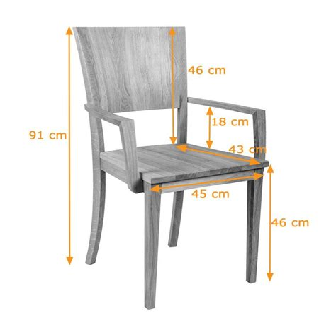 Stuhl Maße