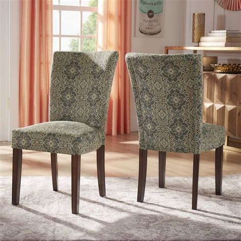 Sture Damask Upholstered Dining Chair (Set of 2)