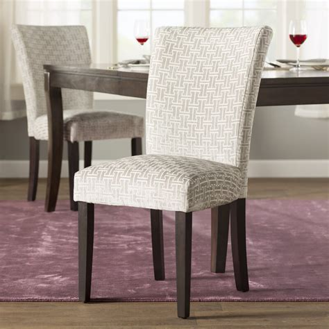 Sture Link Print Upholstered Dining Chair