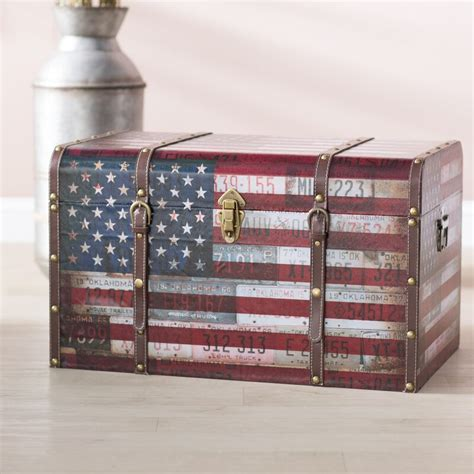 Sumner Americana Decorative Home Storage Trunk