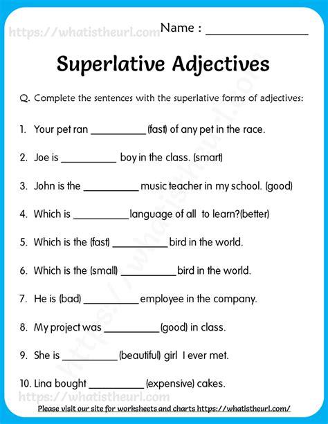 superlative adjectives exercises