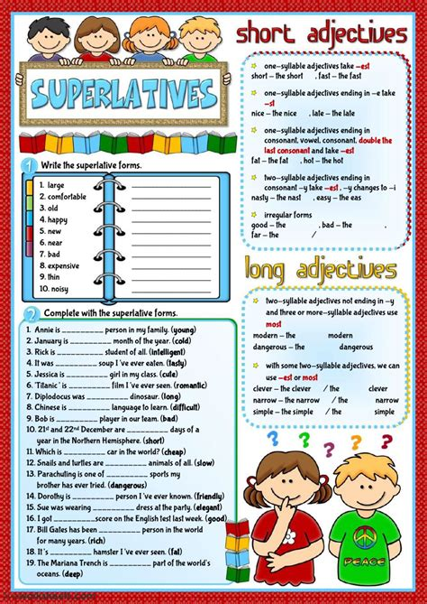superlatives exercises with pictures pdf