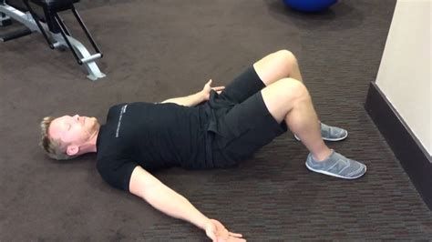 supine hip extension stretch amputee woman new video