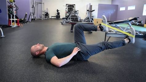 supine hip extension stretch assisted senior