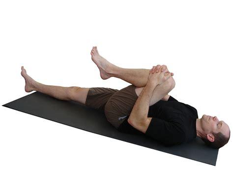 supine hip flexor strech