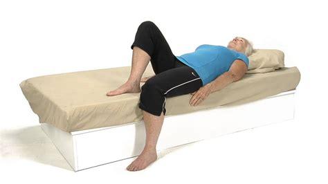 supine hip flexor stretch for geriatrics and gerontology pictures