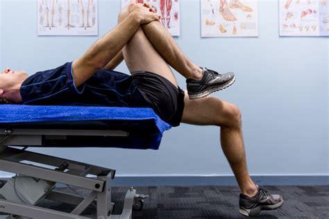 supine hip flexor stretches w \/ partnership card