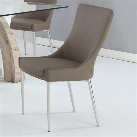 Suyash Genuine Leather Upholstered Dining Chair (Set of 2)