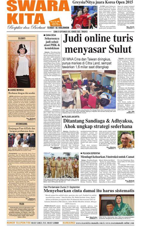 Soal Cpns 2017 Beserta Jawabannya Swara Kita 28 April 2015 By Deydi Mokoginta Issuu