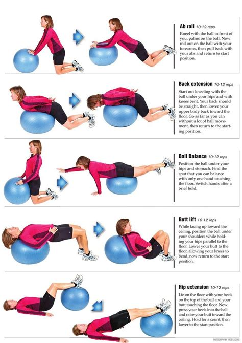 swiss ball exercises for back pain video