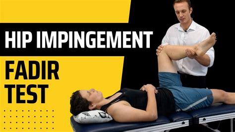 symptoms of hip flexor impingement test for hip