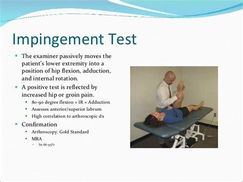 symptoms of hip flexor impingement tests for shoulder