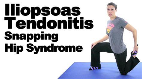 symptoms of hip flexor tendonitis stretches