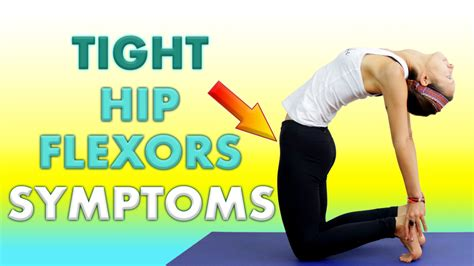 symptoms of strained hip flexor muscles tightening