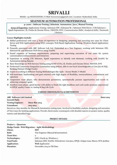 System Administrator Resume Hyderabad Selenium Tester Resume Software Testing G C Reddy