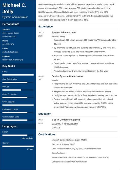 system administrator resume doc india job description