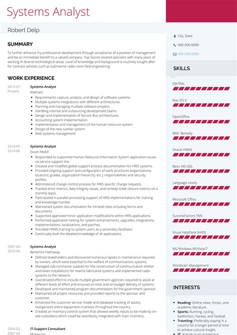 system analyst resume example resume sample example of business analyst resume targeted - Systems Analyst Resume
