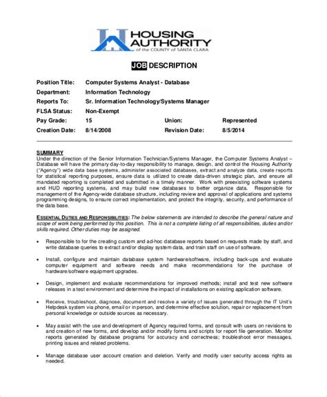 Company Lawyer Job Description Uk Systems Analyst Job Description Job Descriptions
