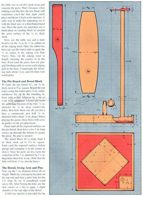 Table Skittles Board Plans