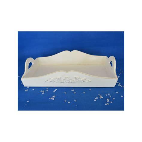 Tablett Weiß Holz