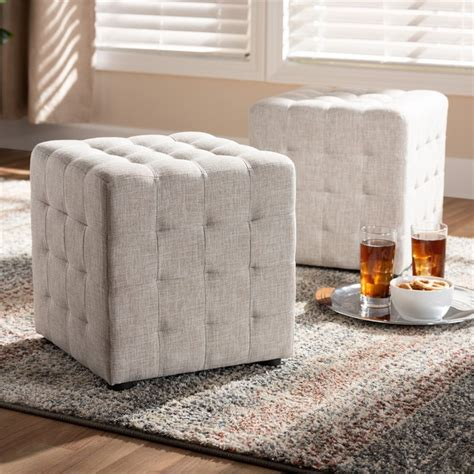 Tade Upholstered Cube Ottoman
