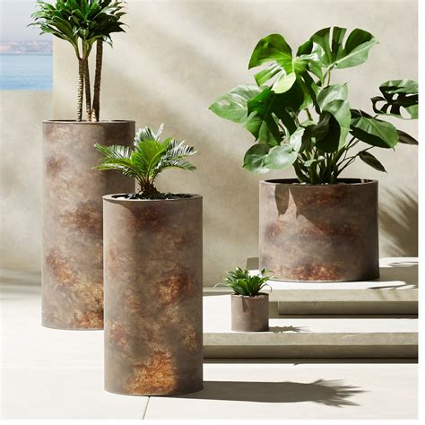 tall planters for outdoors