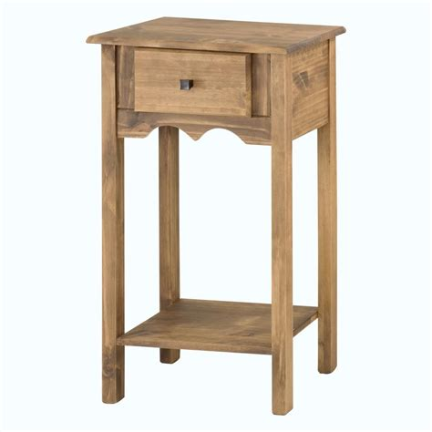 Tall End Table With Drawers