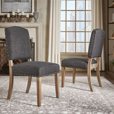 Tamarack Linen Tufted Upholstery Dining Chair (Set of 2)