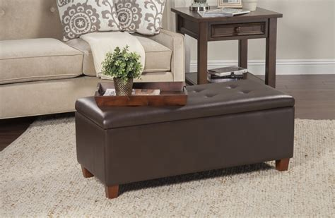 Tamesbury Faux Leather Storage Bench