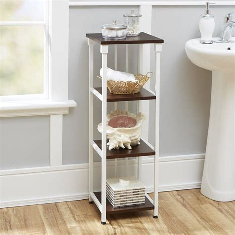 Tammy Mixed Material 4-Tier 12 W x 35 H Bathroom Shelf