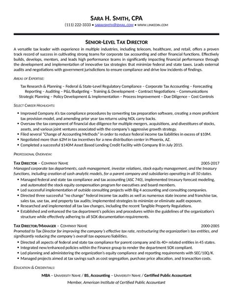 Resume Sample Tax Manager