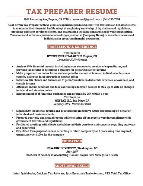 resume samples tax preparer tax preparer resume example mightyrecruiter - Tax Preparer Resume Sample