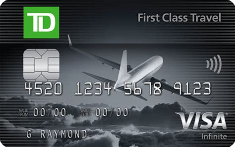 Credit Card Authorization Form Travel Agency Td First Class Travel Visa Infinite Travel Insurance