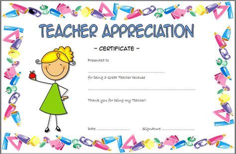 Teacher appreciation certificate template resume samples for teacher appreciation certificate template 11 printable certificates of appreciation for teachers yelopaper Image collections