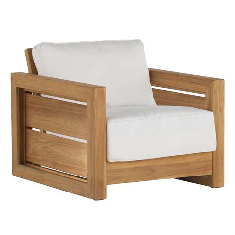 Teak Hide Lounge Chair