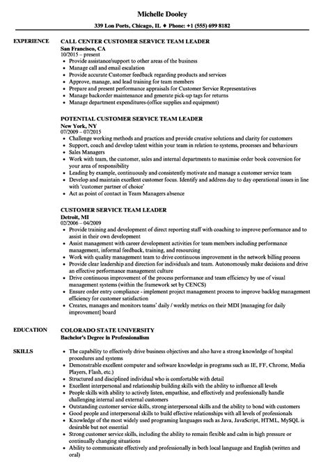 team leader objectives resume resume samples banking jobs