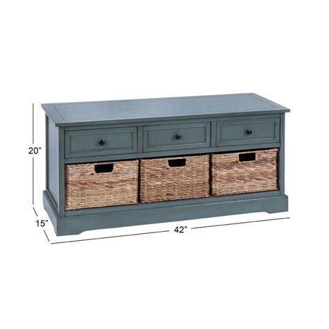 Tecoria Wood Storage Bench
