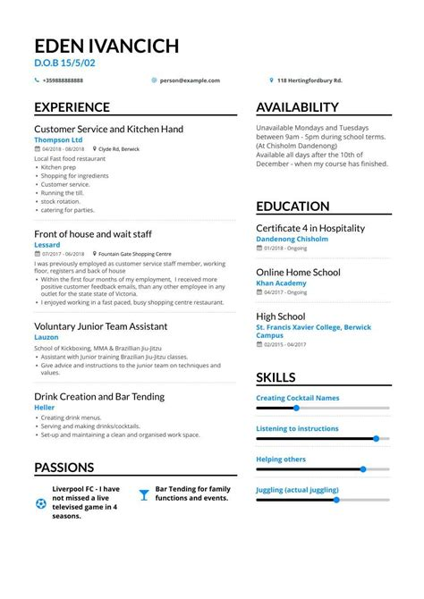 teen resume examples student resume examples and templates the balance - Teen Resume Sample