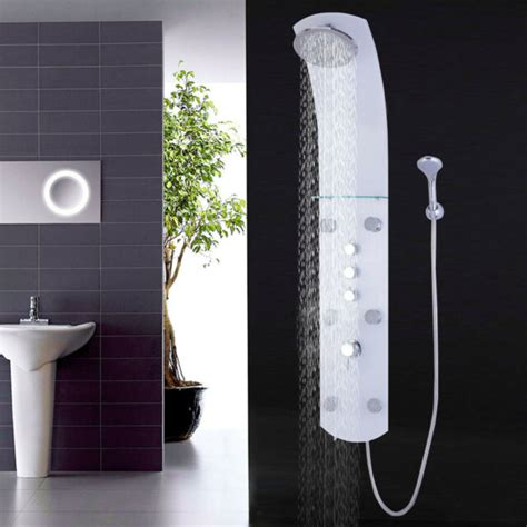 Tempered Glass Shower Panel  Ebay.