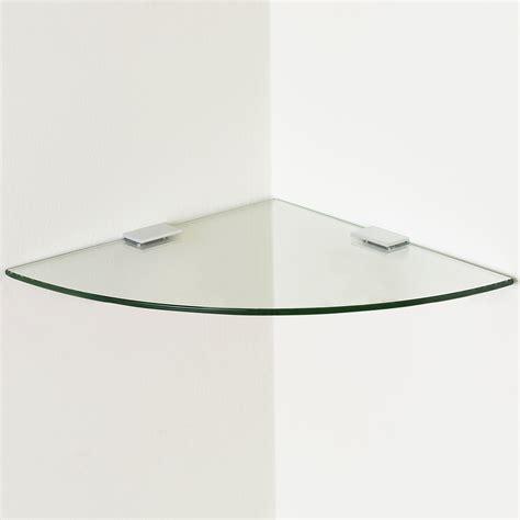 Tempered Glass Floating Corner Shelf