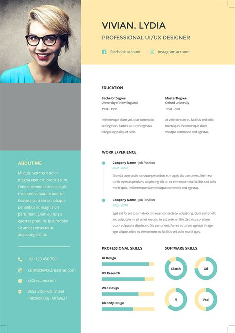 Template Curriculum Vitae Word Cv Resume Office Templates