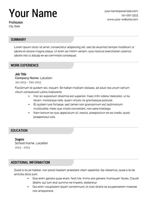 template resume espanol resume template free downloads and reviews cnet