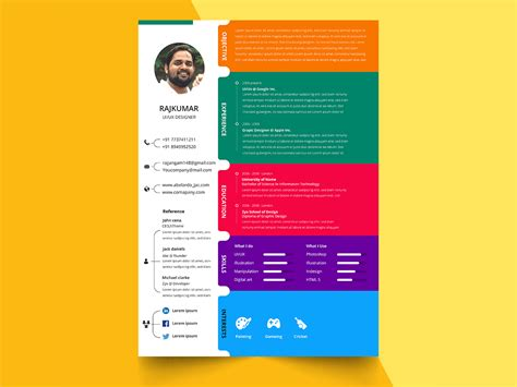 Templates For Acting Resumes Colorful Resume Templates Canva