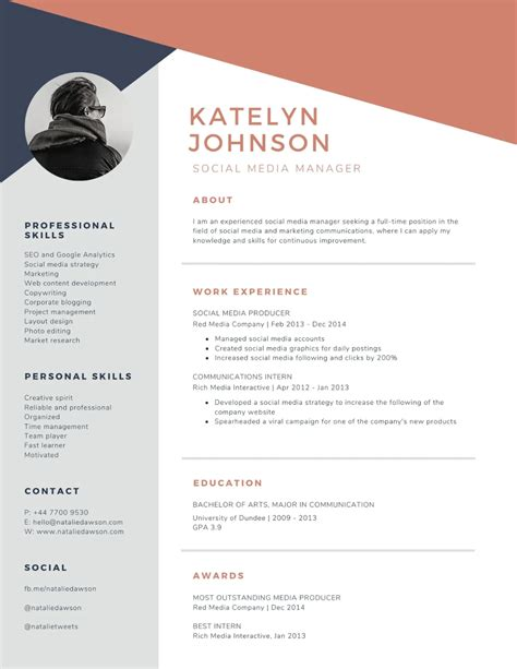 Templates For Simple Resumes Free Resume Templates Canva