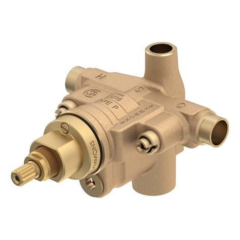 Temptrol Pressure Balancing Shower Valve Body with Volume Control and Stops