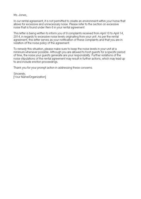 Sample noise complaint letter to landlord good resume words for skills sample noise complaint letter to landlord tenant noise complaint letter the rental source spiritdancerdesigns Image collections