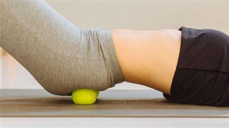 tennis ball massage hip pressure